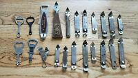 Lot of 20+ Vintage BEER ADVERTISING BOTTLE & CAN COMBINATION OPENERS