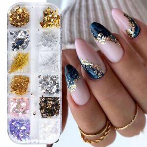Foil Platinum 3D Nail Art Decorations Manicure Accessories DIY Nail Jewelry