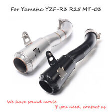 For Yamaha YZF-R3 MT-03 R25 Motorcycle Exhaust Pipe Slip On 36mm Escape Mid Pipe