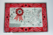 4 Vinyl Placemats Best BBQ Towns USA Easy to Clean Indoor Outdoor
