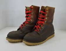 Vintage 60s Vulcan Mens 10 Insulated Leather Lace Up Work Winter Boots Brown