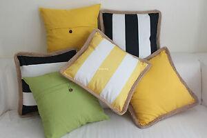 """Green Yellow Black Outdoor Home Decor Cotton CUSHION COVER THROW PILLOW CASE 18"""""""