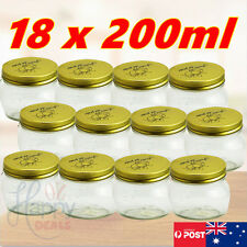 200mL Glass Mouth Jars Bottles Spice Metal Lids Candy Mason Fermenting Canning