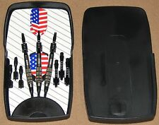 2-Slider Dart Cases for the price of 1(CASES ONLY) Black Plastic, Durable