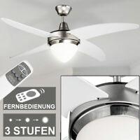 Decken-Ventilator Fernbedienung Wohnzimmer 122cm Beleuchtung wärmen Flur Leuchte