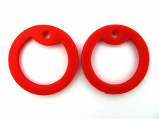 4 Red Silicone Military Army Dog Tag Silencers Rubber Silencer