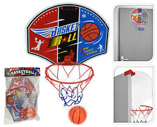 Childrens Mini Basketball Hoop and Ball Indoors or Outdoors Door Hanger Netball