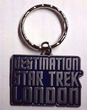 "2012 Destination Star Trek London Key Chain 1.5"" w Set of 4 Buttons (STKC-DLon)"