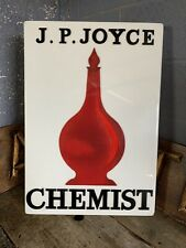 More details for antique vintage chemist advertising trade sign shop display apothecary carboy