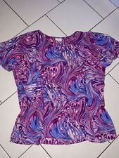ladies sz 24 autograph colorful floatey sleeved top
