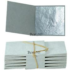 100 pure edible silver leaf leaves sheets 999/1000 Real Silver