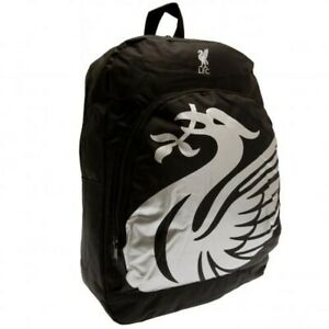 Liverpool FC Backpack Black Official Merchandise Kids School Bag Rucksack LFC