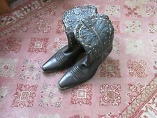 Cole Haan western cowboy boot brown leather size 6.5  6 1/2  M vguc