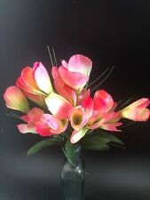 Home Decor Crocus Bunch Artificial Flowers Pink