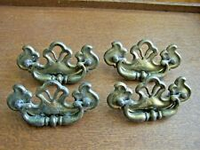 4--VINTAGE OPEN TOP BRASS DRAWER PULLS-MARKED CONT.B 1986 B 8790