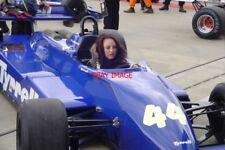 PHOTO  MICHELLE ALBORETO IN HIS F1 TYRRELL 011 SILVERSTONE CLASSIC 22.7.11