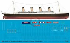 Peddinghaus 1/350 RMS Titanic British Ocean Liner Markings White Star Line 3789