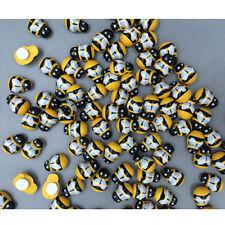 100X Wooden 3D Yellow Art Bee Animal Fridge Wall Sticker Embellishment DIY Craft