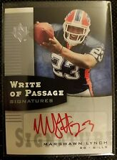 Marshawn Lynch 2007 Ultimate Collection Write of Passage Red Auto WP-ML