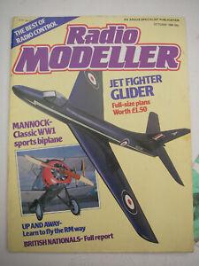 "Radio Modeller Plans of Hawker Hunter 36"" span with magazine October 1984"
