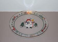 "One Snow Village Christmas Round Glass Serving Platter 13"" - Pfaltzgraff"