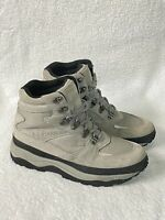 ll bean boots Suede Leather Winter Hiking Boots PrimaLoft Women's 9.5 Gray
