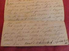 Lettre autographe Oscar d'Adelsward 1849 Député de la Meurthe /  Tabac