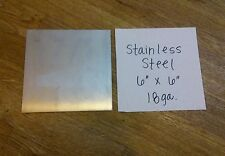 "Stainless steel 430. one piece 20 gage 6"" x 6""+- plate, metal sheet  welding"
