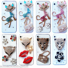 NEW 3D CLEAR BLING DELUX DIAMANTE SPARKLE CASE COVER SAMSUNG IPHONE S6 S7 S8 S9