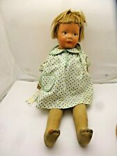 Antique Kamkin Oil Cloth and Cloth Doll, Made from 1919-1928
