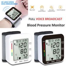Wristech Wrist Blood Pressure Monitor Cuff Automatic BP Heart Rate Large Display