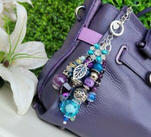 Custom handmade bag CHARM purse Keychain GIFT crystal sparkle bead DB MK, COACH