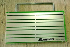 """SNAP-ON ™ Tools Magnetic Organizer Holder Tray 12"""" X 6"""" Carry Handle HiViz Green"""