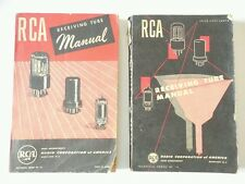 Vintage RCA Receiving Tube Manuals 1947 and 1950 Radio TV