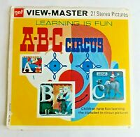 1961 A-B-C Circus B411 Vintage Original View-Master 21 Stereo Pictures 3 Reels