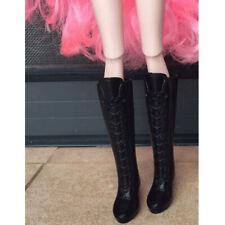 1/6 BJD Dolls Shoes Black Boots for Momoko for Blythe Licca for   SD DD