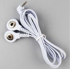 2in1 Reizstrom Elektroden Kabel 3,5mm (Druckknopf) | EMS / TENS / E-STIM / ESTIM