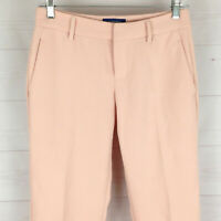 Old Navy Harper womens size 0 x 24 stretch pink flat front tapered capri pants