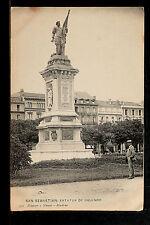 2649.-SAN SEBASTIÁN -Estatua de Oquendo (Postal sin División)
