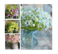 3x Bouquet Artificial Flowers Silk Fake Chamomile Home Decor Craft 4 Colors 17cm