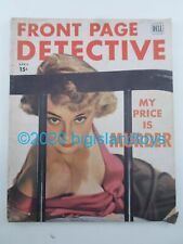 Vintage Magazine Front Page Detective Dell April 1951 My Price is Murder