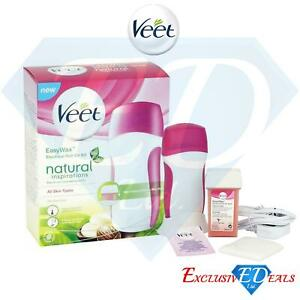 Veet Ladies Easy Natural Wax Heating Electrical Roll On Kit Easy Hair Removal