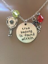 Beauty and the Beast Inspired Necklace (true Beauty Is Found Within)