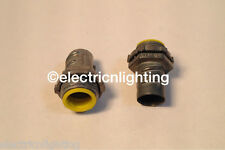 "FLEX CONNECTORS screw-in w/ insulated throat 1""-Pack of 15 electrical fittings"