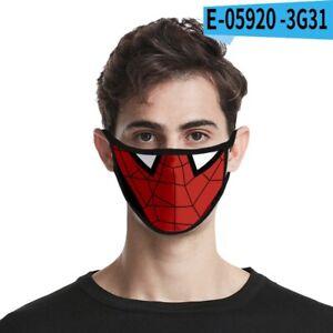 Spiderman Spidey Face Mask Personalised Marvel Avengers kids Washable