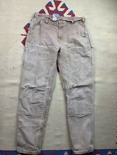 Vtg Carhartt Double Knee Work Pants Size 34x34 Made In USA Workwear