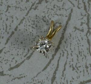 0.25 Carat Diamond 18ct Gold Solitaire Pendant