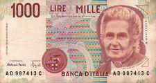 BANCONOTA ITALIANA DA 1000 LIRE MONTESSORI SERIE AD SC-7