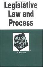 Legislative Law and Process (Nutshell Series) Davies, Jack Paperback
