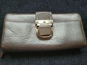 Michael Kors Gold Buckle Wallet zip around